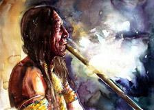 Индеец с трубкой мира
